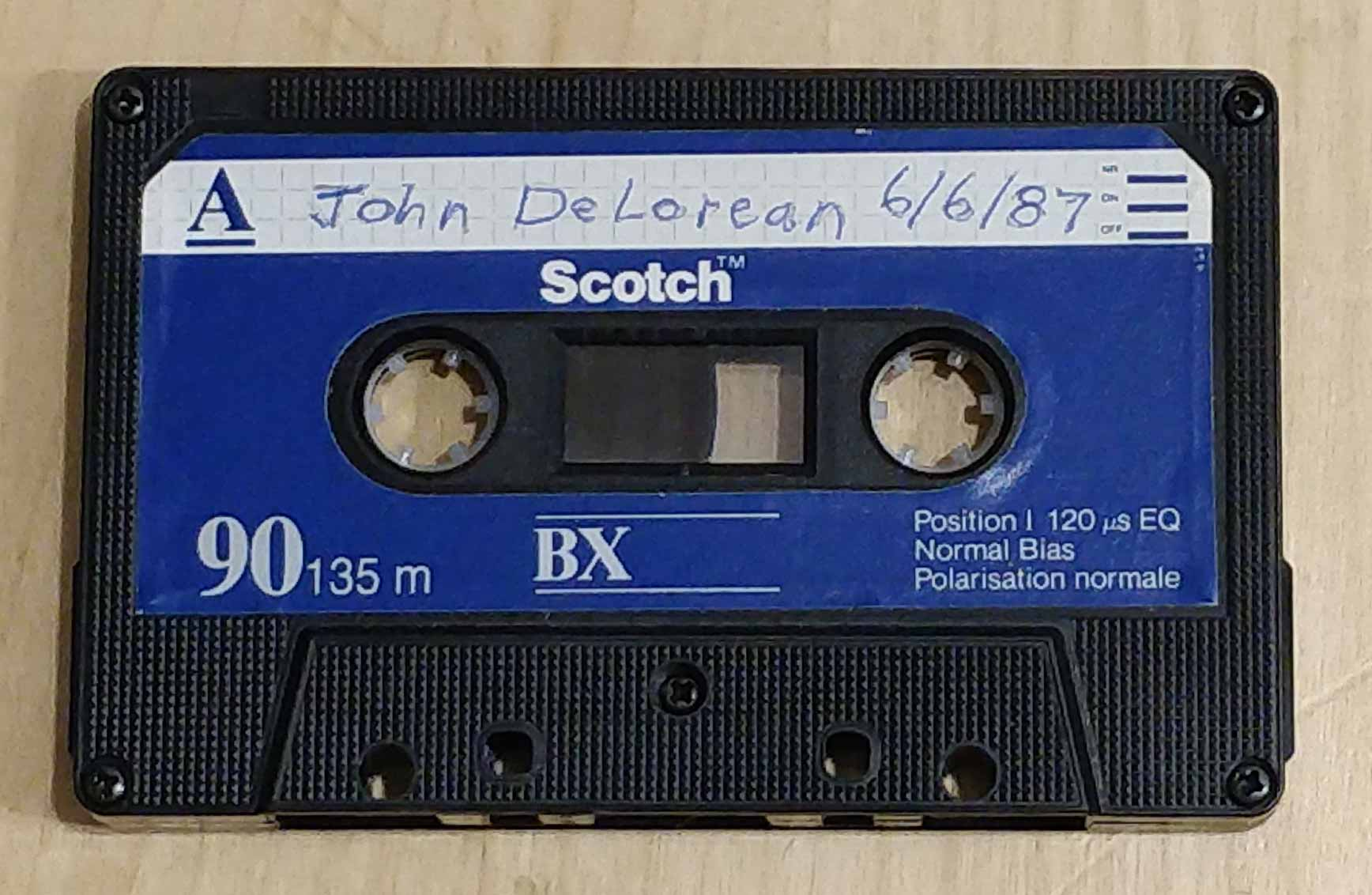 John DeLorean tape | DeLoreanTalk.com